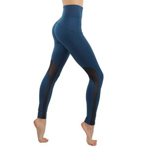 2/$26 3/$36 Workout Leggings With Mesh TEAL
